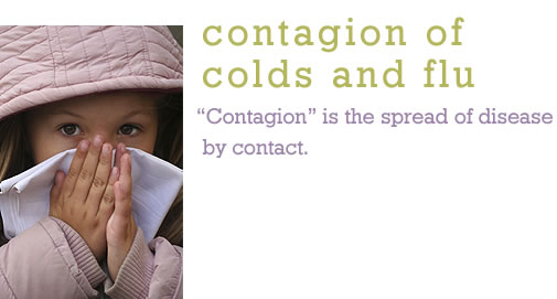 Contagion of Colds and Flu