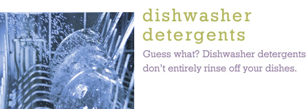 Detergents, Dishwashing