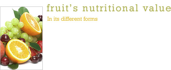 Fruit's Nutritional Value