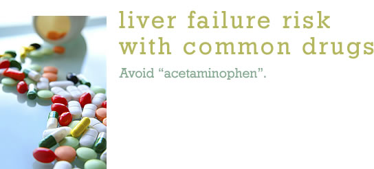 Liver Failure Risk with Common Drugs