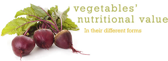 Vegetables' Nutritional Value