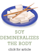 Soy Demineralizes the Body